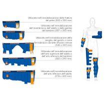 Blue Splint - Steccobende con Anima Flessibile e Chiusura Velcro Kit