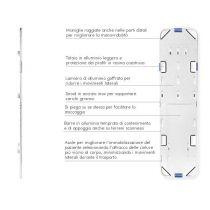 Porta Loc - Tavola Spinale in Alluminio Pieghevole