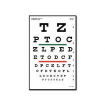 Tavola Optometrica Snellen 23 X 35.5 - 6.1 M