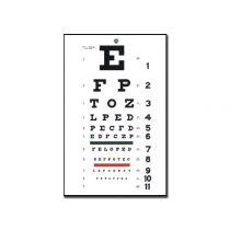 Tavola Optometrica Snellen Tradizionale 28 X 56 - 6.1 M