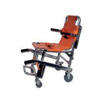 Barella a sedia portantina di emergenza in alluminio su 4 ruote