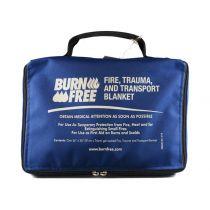 Coperta Burnfree per Ustioni e Protezione Dalle Fiamme + Sacca per Trasporto 91X76 Cm