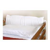 Paracolpi di sicurezza sfoderabile e sagomato per la testata del letto