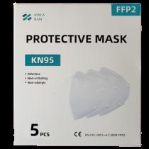 5 Mascherine FFP2 DPI Certificate CE