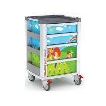 Carrello Pediatrico con 2 cassetti medium e 2 large