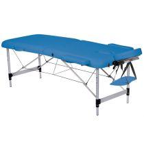 Lettino da Massaggio in Alluminio a 2 Sezioni - Altezza Regolabile - Blu