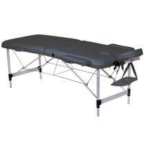 Lettino da Massaggio in Alluminio a 2 Sezioni - Altezza Regolabile - Nero