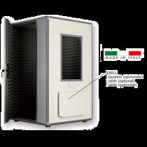 Cabina Audiometrica Pro 30 - in Alluminio e Laminato - 132X132X245 Cm
