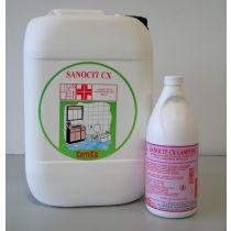 SANOCIT LAMPONE CX Detergente sanificante anticalcareo con Clorexidina per bagni