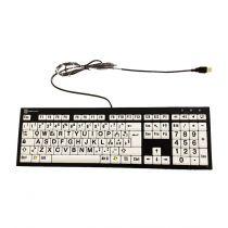 Tastiera XL B/N alto contrasto - Layout ITA