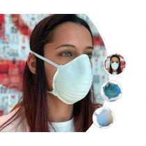 Mascherina Lavabile Filtrante In TNT Multistrato Termoformato confezione da 2 pezzi